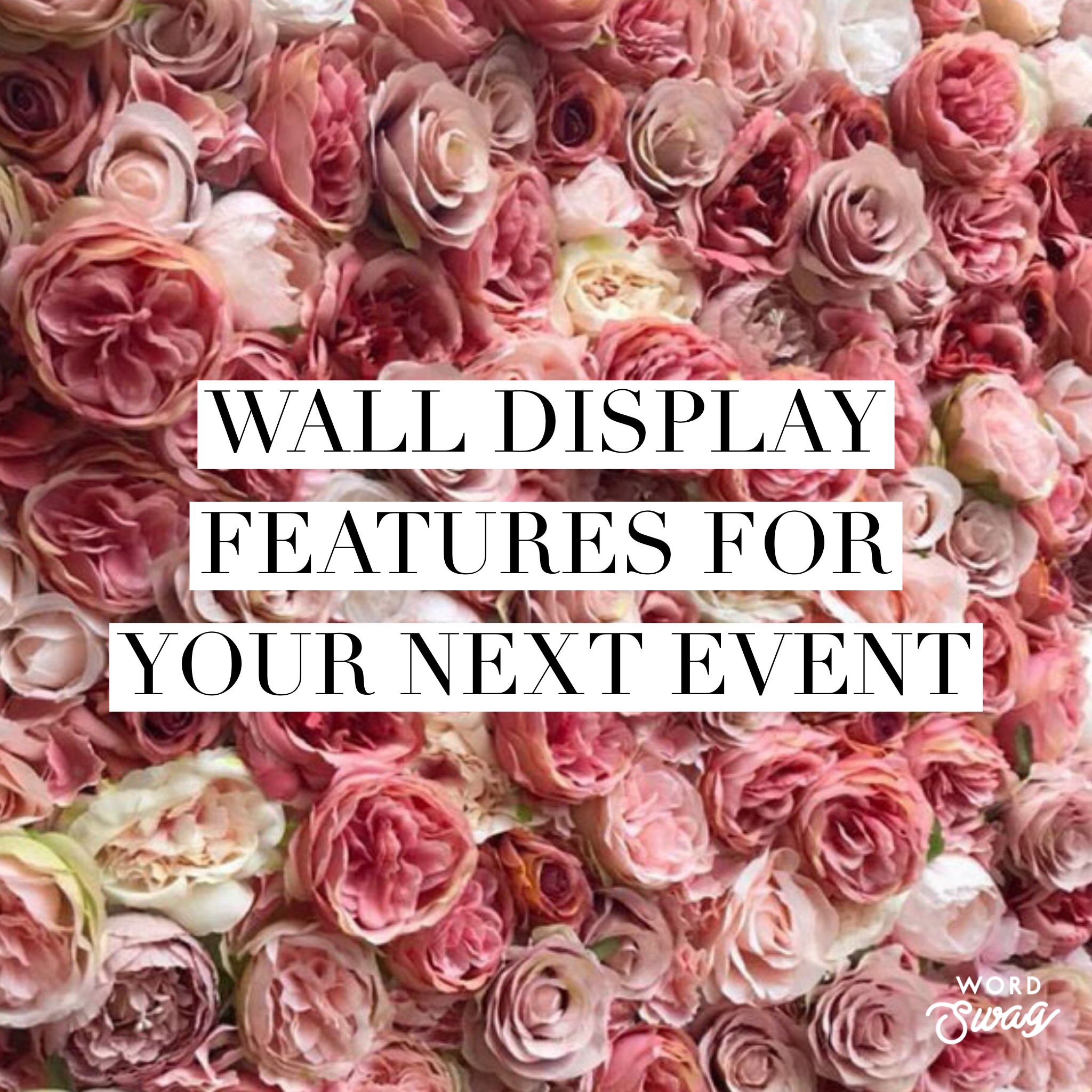 Event wall display Inspo
